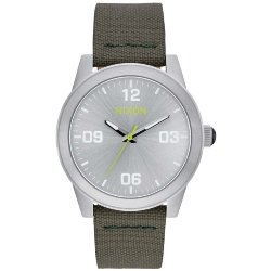 ЧАСЫ  Nixon G.I. NYLON SILVER/SURPLUS