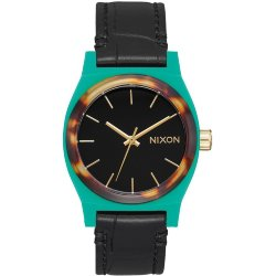 ЧАСЫ  Nixon MEDIUM TIME TELLER LEATHER Green/Mix