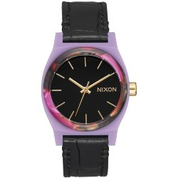ЧАСЫ  Nixon MEDIUM TIME TELLER LEATHER Magenta/Mix