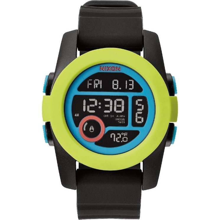 ЧАСЫ  Nixon Unit 40 Chartreuse/Blue/Black