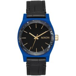 ЧАСЫ  Nixon MEDIUM TIME TELLER LEATHER Navy/Mix