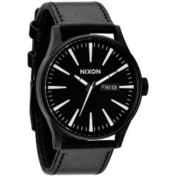 ЧАСЫ  Nixon Sentry Leather BLACK/WHITE