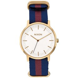 ЧАСЫ  Nixon PORTER NYLON GOLD/WHITE/RED