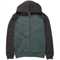 ТОЛСТОВКА  Billabong BALANCE ZIP HOOD BOY EVERGREEN