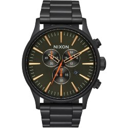ЧАСЫ  Nixon Sentry Chrono All Black/Surplus