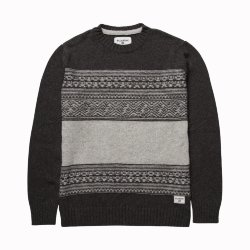СВИТЕР  Billabong MAYFIELD SWEATER DARK GREY HEATH