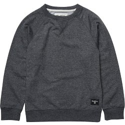 ТОЛСТОВКА  Billabong ALL DAY CREW BOY DARK GREY HEATH