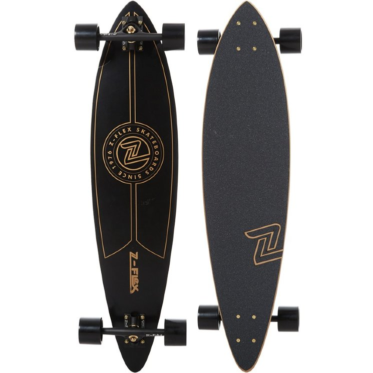 КОМПЛЕКТ ЛОНГБОРД  Z-Flex PINTAIL LONGBOARD GOLD/ BLACK