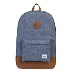РЮКЗАК  Herschel Heritage Dark Chambray Crosshatch/Tan Synthetic Leather