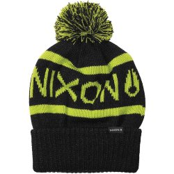 ШАПКА  Nixon Teamster Beanie BLACK/LIME