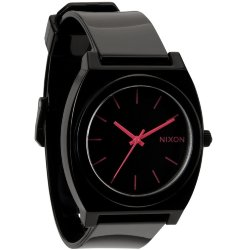 ЧАСЫ  Nixon Time Teller P BLACK/BRIGHT PINK