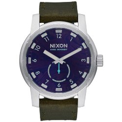ЧАСЫ  Nixon PATRIOT LEATHER PURPLE/OLIVE