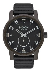 ЧАСЫ  Nixon PATRIOT LEATHER BRONZE/BLACK