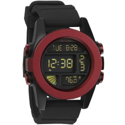 ЧАСЫ  Nixon Unit DARK RED/BLACK ANO