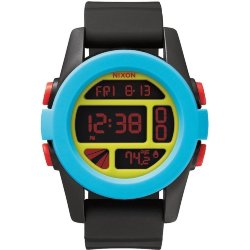 ЧАСЫ  Nixon Unit Black/Blue/Chartreuse