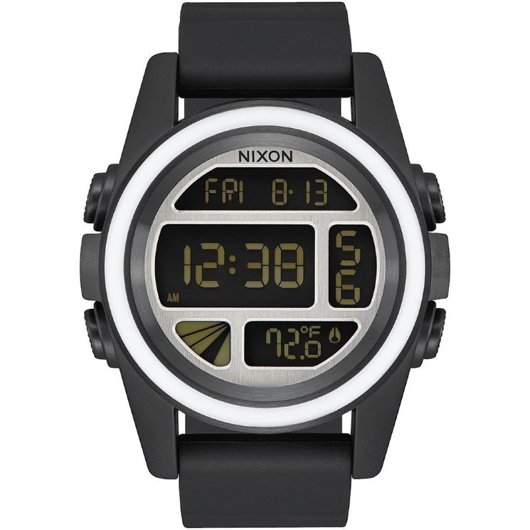 ЧАСЫ  Nixon Unit BLACK/WHITE/SILVER