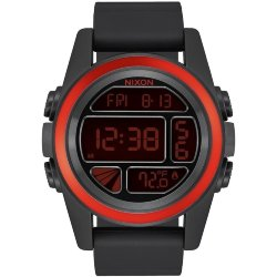 ЧАСЫ  Nixon Unit BLACK/RED/BLACK