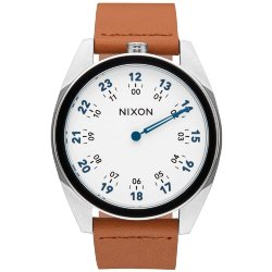 ЧАСЫ  Nixon GENESIS LEATHER WHITE/SADDLE