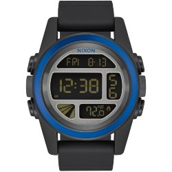 ЧАСЫ  Nixon Unit Black/Blue/Gunmetal
