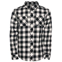 РУБАШКА  Saga LIFE BUTTON-UP BLACK GINGHAM