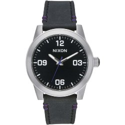 ЧАСЫ  Nixon G.I. LEATHER BLACK