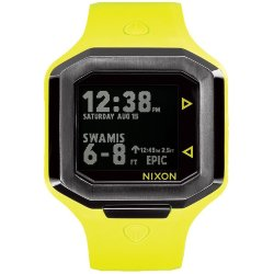 ЧАСЫ  Nixon ULTRATIDE NEON YELLOW/GUNMETAL