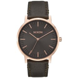 ЧАСЫ  Nixon PORTER LEATHER ROSE GOLD/GUNMETAL/SURPLUS